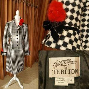 Vintage Rickie Freeman for Teri Jon Suit SZ 6